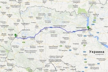 2013-11-05_04_Kiev Rivne Lviv Krakovets Fast Speed Motorway Ukraine Map