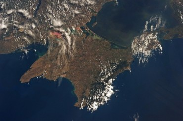 2014-03-06_02_Crimea Map Aerial From Space Ukraine