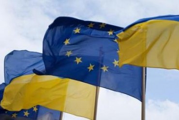 2014-03-07_01_Ukraine EU European Union Flags