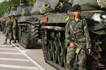 Thailand-Military-Army-Armed-Man-Tank-Soldier