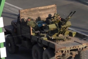 2014-07-13_02_Luhansk Lugansk Ukraine War With Russia Armoured Weapons Tanks in the City 2