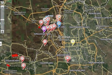 2014-07-27_01_Map Donetsk War Counter Terrorist Operation Ukraine Self-Made Amateur Map