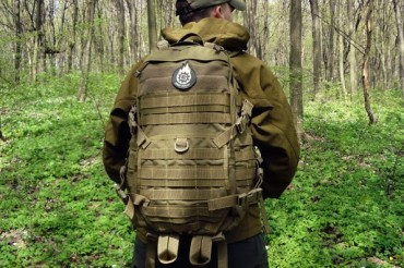 2014-08-04_05_Military Backpack Man in Forest