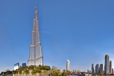 DUBAI, UAE - OCTOBER 23: Burj khalifa, the highest building in t