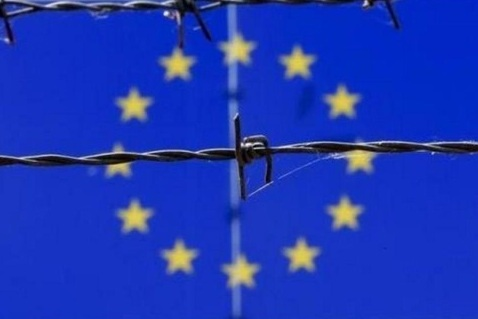 European Union Flag Barbed Wire