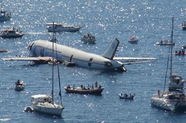 Kusadasi Aircraft Airplane Plane Sea Sink Turkey