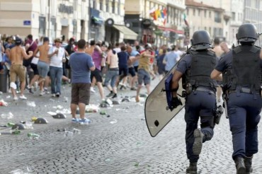Marseille France EURO 2016 Police Soccer Fans Fights