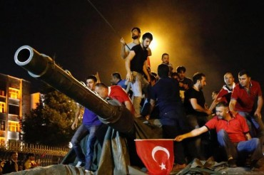 Armed Coup Takeover Turkey Tank People