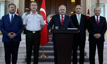 Binali Yildirim Prime Minister Turkey Press Conference