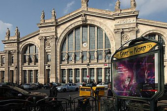 Paris Gare Du Nord North Railway Station France
