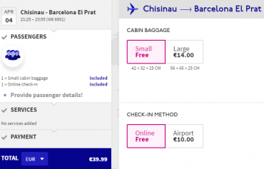 Wizz Air Barcelona Cheap Ticket